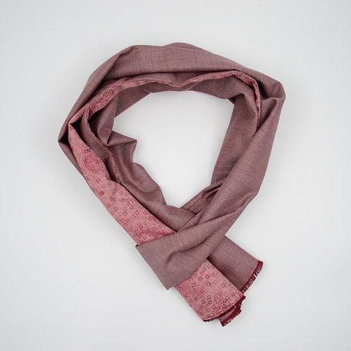 Wolle Schal für Herren Anzug oder Jackett.Handarbeit. Rot + Grafik