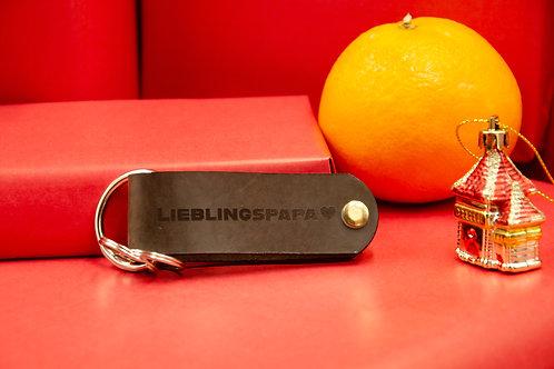 Personalisierter Schlüssel-Organizer mit Monogramm aus Leder ca. 10x3cm.