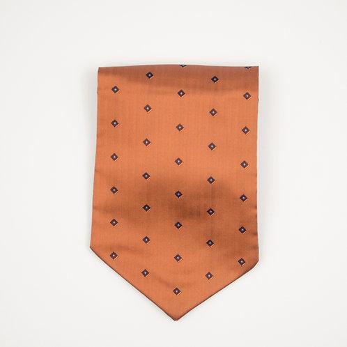 Krawattenschal Orange aus Seide. Ca. 15x100cm.
