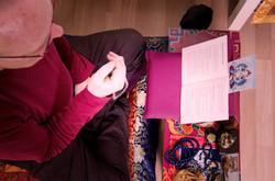 Meditext und Mala für Meditation