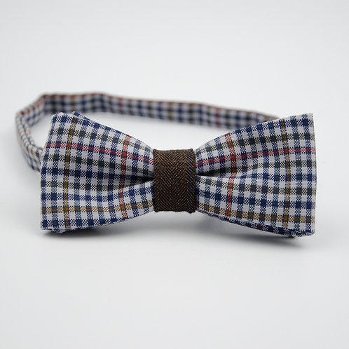 Fliege für Herren Anzug/Hemd.Vorgebunden. Ca. 6x12cm.Dunkel Blau. Kariet