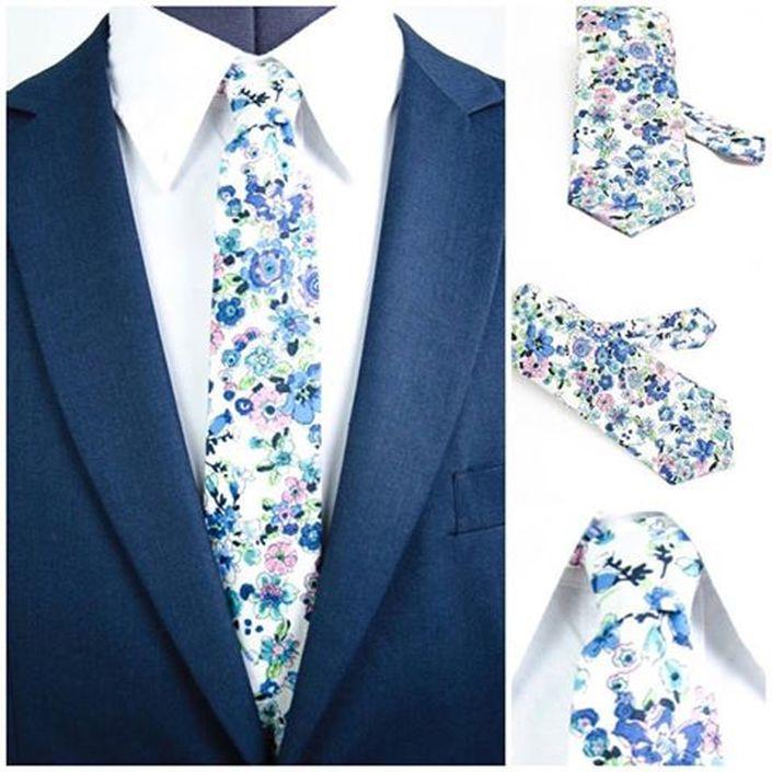 Blumen Krawatten für Herren. Modern and Elegant. Heng Fashion. Made in Berlin.