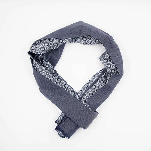 Schal für Herren Anzug oder Jacket ca.27x200cm. Grau+Kreis
