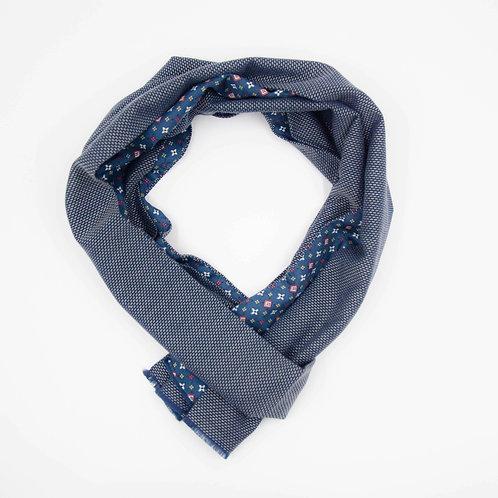 Schal für Herren Anzug oder Jacket ca.27x200cm. Grau blau + Diamant