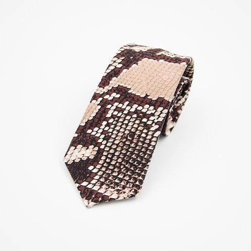 Krawatten für Herren aus Baumwolle.Handgefertigte. Python. Braun