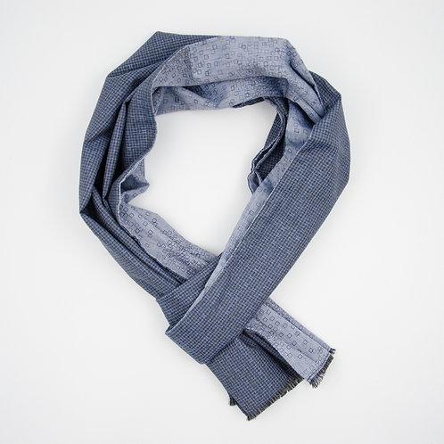 Wolle Schal für Herren Anzug oder Jacket (Reversible Scarf).Handgefertigte. Blau