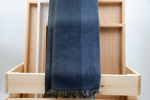 Seiden-Baumwoll-Mischgewebe-Schal. Unisex. Für Herren oder Frauen.