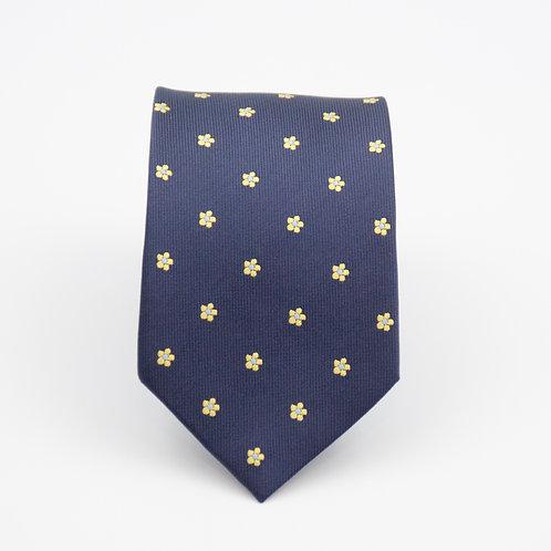 Krawatten aus Seide für Herren.Handgefertigte. Blumen. Dunkel Blau. Ca. 6x145cm.