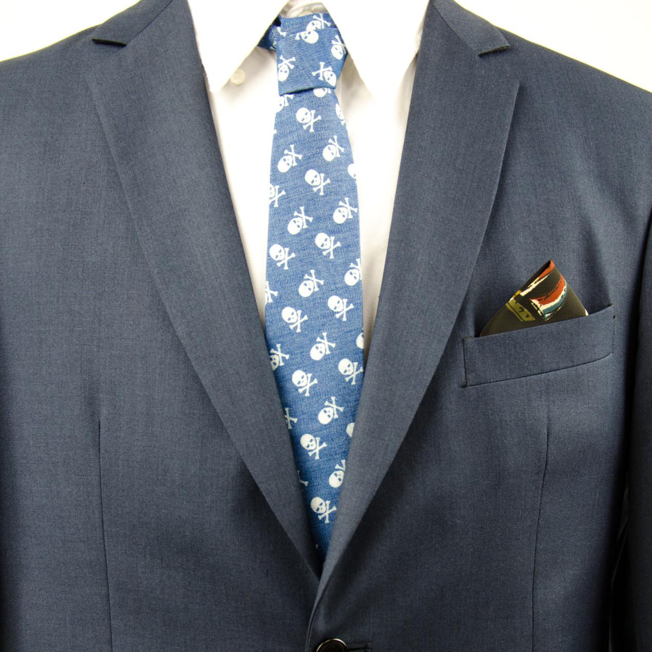 Dead Skull Necktie. Heng Fashion. Men Accessories. Made in Berlin.