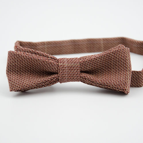 Bowtie made of wool for suit/jacket/shirt approx. 4x12cm. Pre-tied. Red