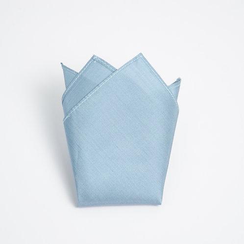 Pocket square made of silk cir. 28x28cm. Handmade in Berlin. Aqua blue