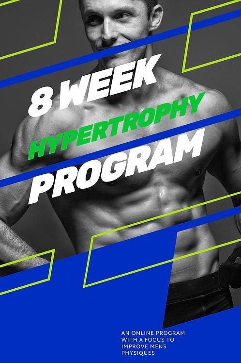 Men's 8 Week Hypertrophy Program