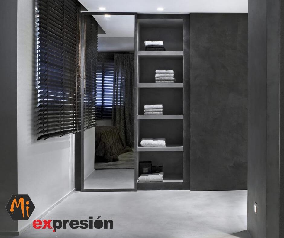 microcemento Valladolid dormitorio