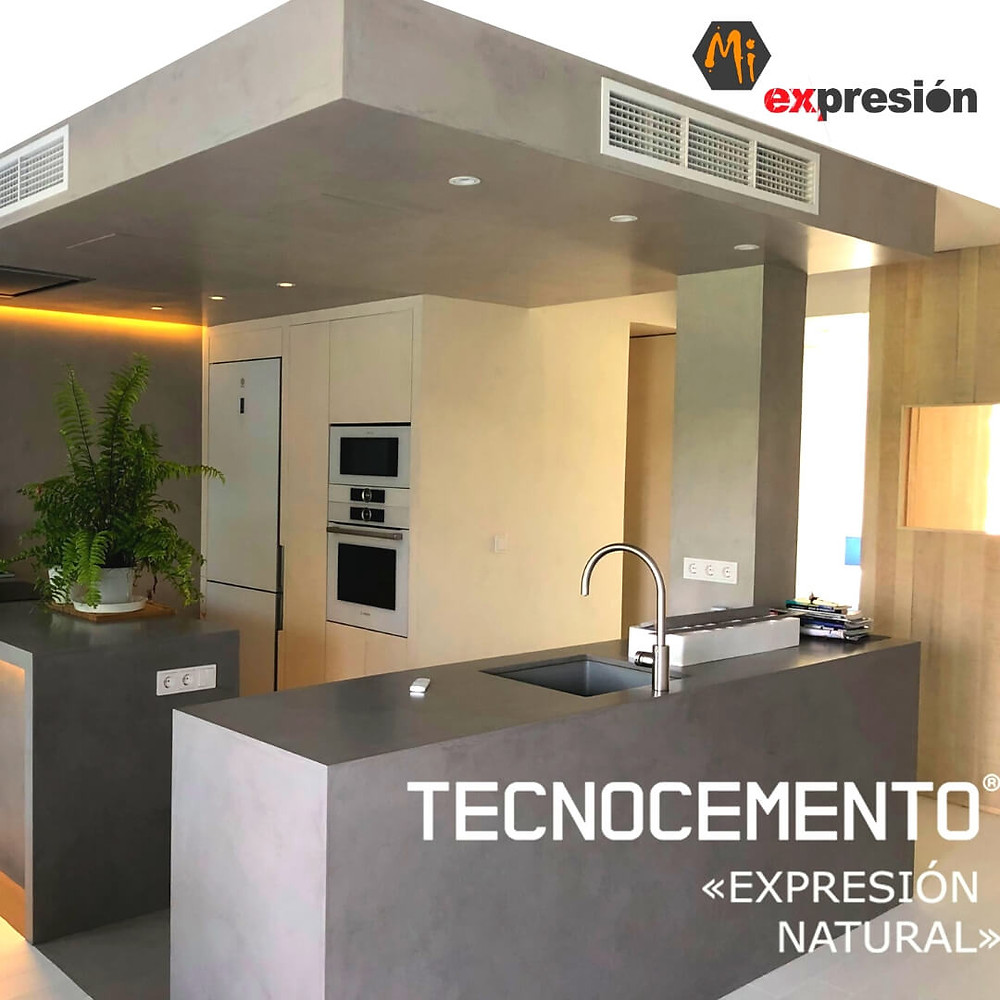 Cocina en Microcemento León