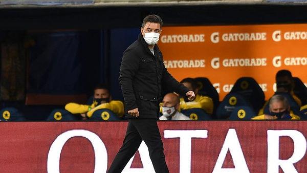 Gallardo se mostró orgulloso por la actitud que tuvieron sus jugadores. Foto: www.tycsports.com