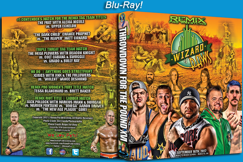 Remix Pro Wrestling - Throwdown for the Pound 16 BLURAY
