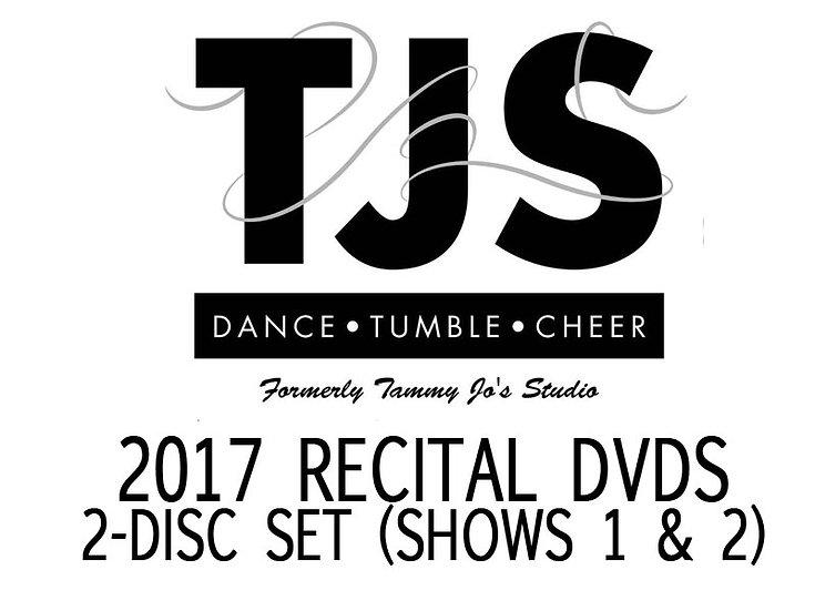TJS 2017 RECITAL 2 DISC SET Show 1 & 2 DVD