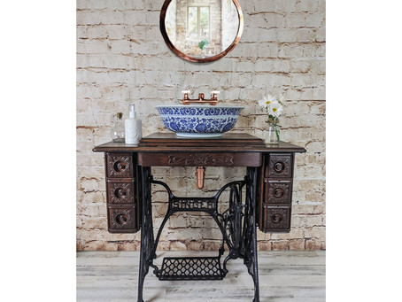 Sewing Machine Tables Repurposed