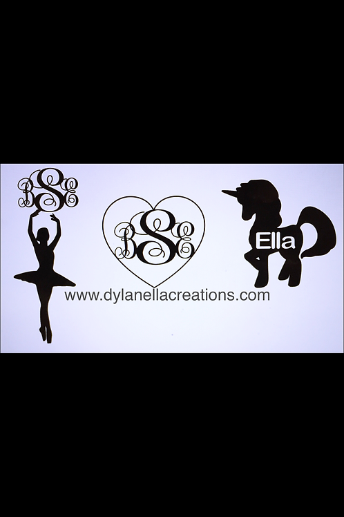 """Personalized Decals up to 4"""""""