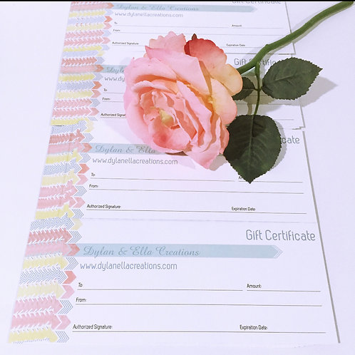 Gift Certificate ($35 value+shipping)
