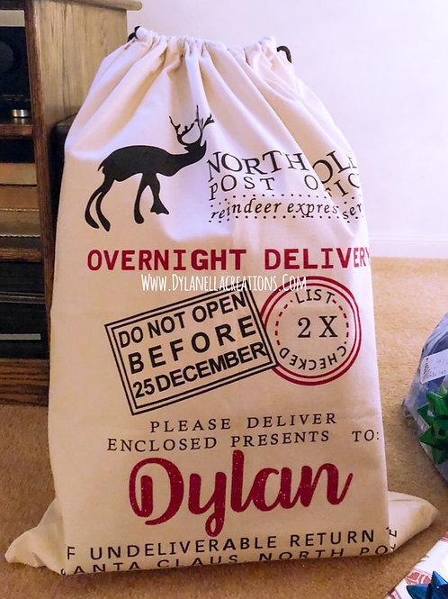Personalized XLarge Santa gift sacks!