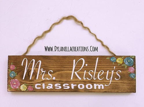 Teacher's Door sign