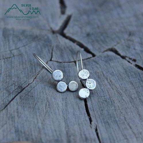 Sterling Silver California River Rock Dangle Earrings         | Silver & Slag |