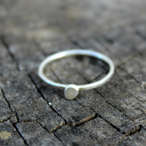 Sterling Silver Small Circle Stacking Rings