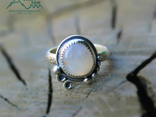 Malibu Agate set in Sterling Silver Ring - Size 7.75     | Silver & Slag |
