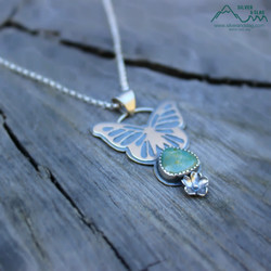 silver and slag sterling nature jewelry