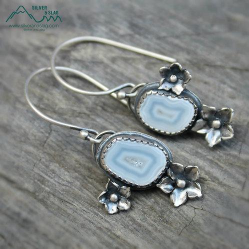 Malibu Agates set in Sterling Silver California Superbloom Dangle Earrings