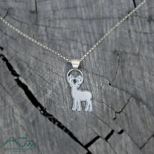 California Deer Sterling Silver Necklace      | Silver & Slag |