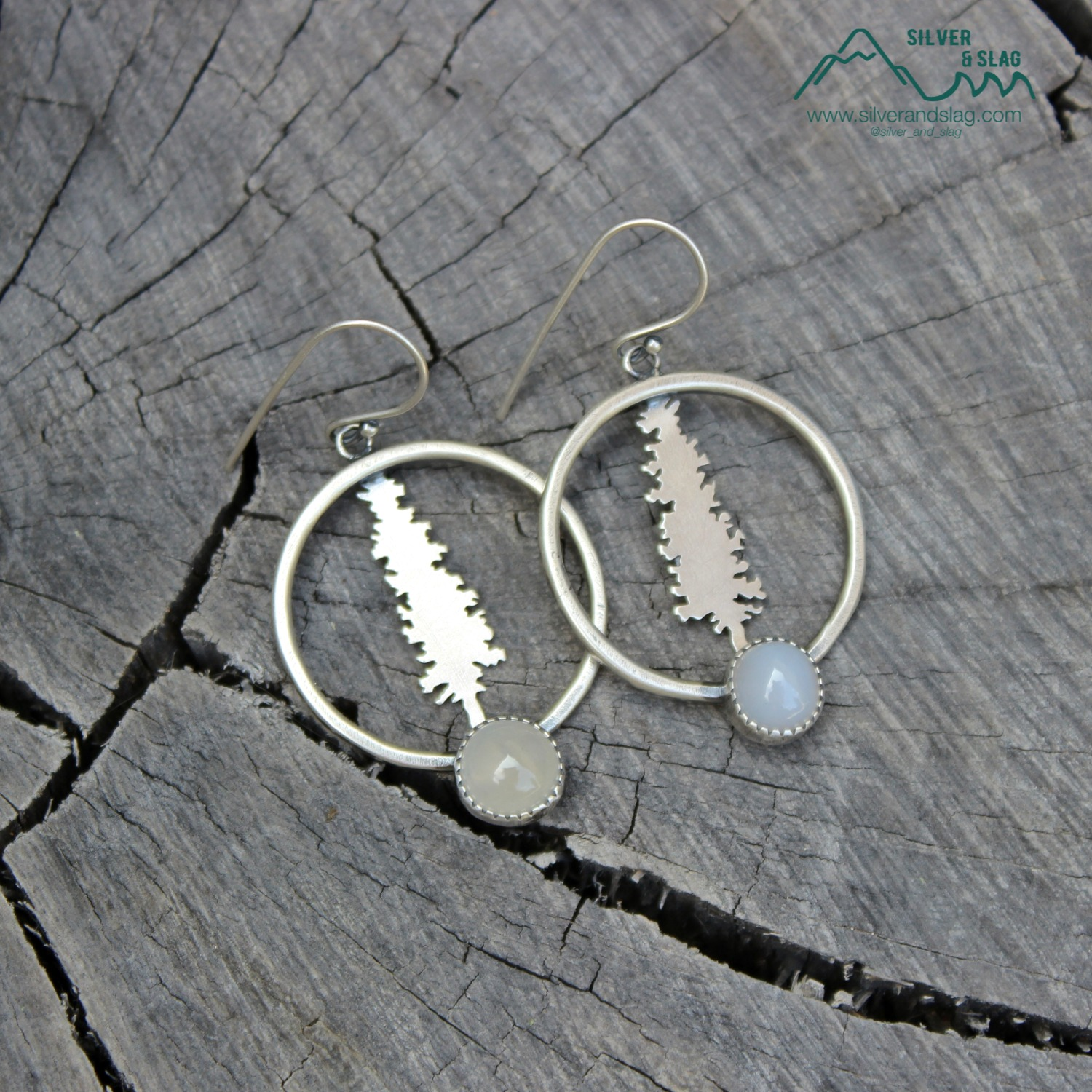 silver and slag handmade sterling jewelr