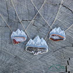 silver and slag sterling handmade jewelr