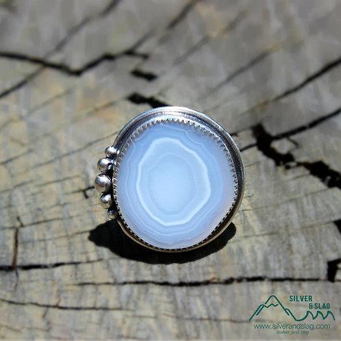 Malibu Banded Agate set in Sterling Silver Ring - Size 7     | Silver & Slag |