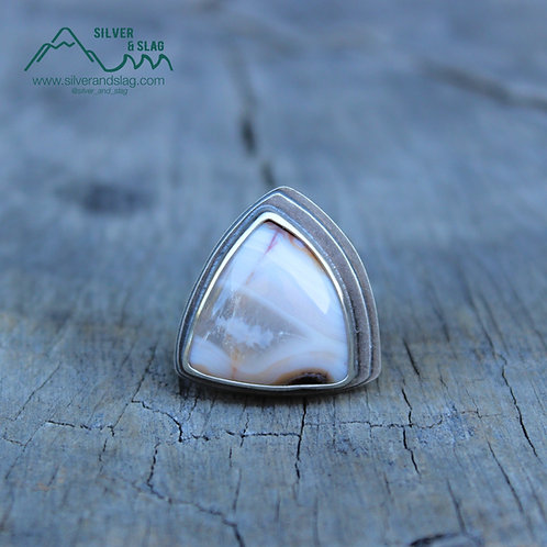 Mojave Desert Agate set in Sterling Silver Statement Ring - Size 6.25