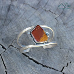 silver and slag sterling handmade nature