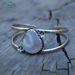 silver and slag handmade nature jewelry