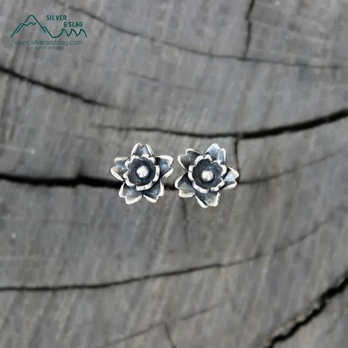 Sterling Silver California Wildflower Superbloom Stud Earrings