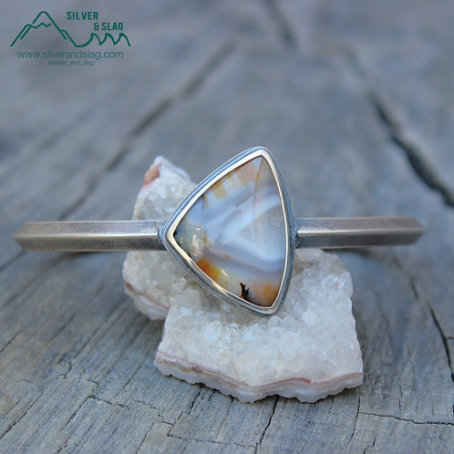 Sterling Silver Statement Cuff Bracelet with Incredible Mojave Desert Agate