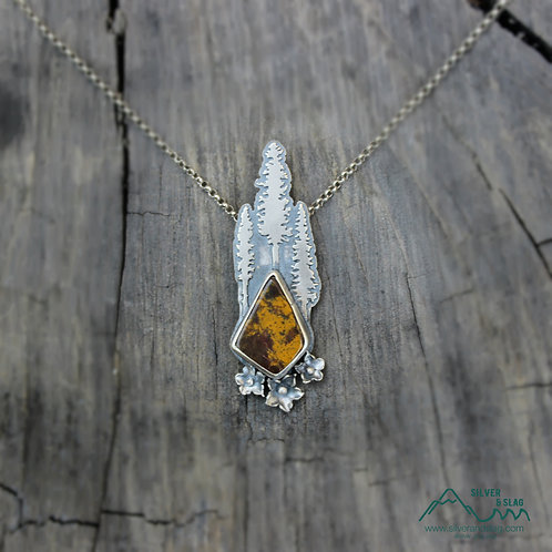 Stay Rooted & Grow Towards the Sun Malibu Jasper Sterling Silver Necklace