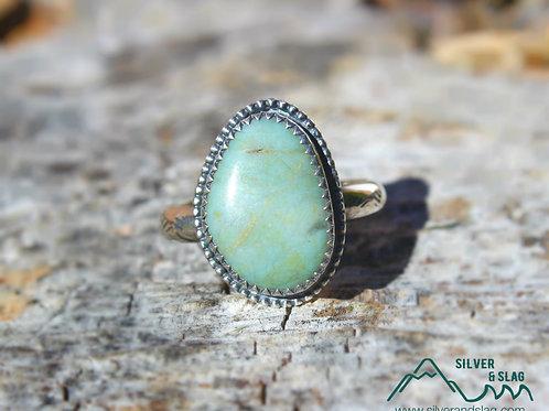 California Jasper set in Sterling Silver Ring - Size 7.5       | Silver & Slag |