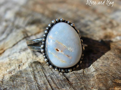 California Central Coast Opal set in Sterling Silver Ring - Size 8