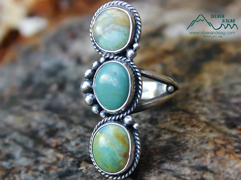 California Jasper set in Sterling Silver Ring - Size 6.5     | Silver & Slag |