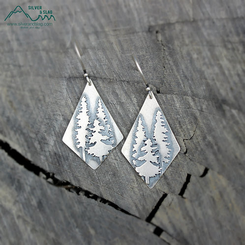 Sterling Silver California Forest Silhouette Earrings         | Silver &