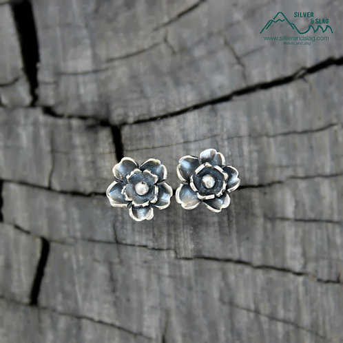 Sterling Silver California Wildflower Superbloom Stud Earrings