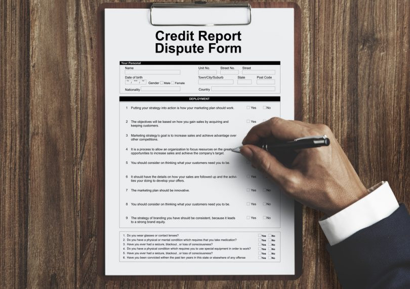credit dispute form