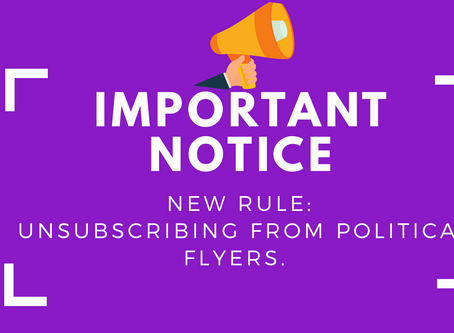 Unsubscribing from Political Flyers (New rule) - iMailApp