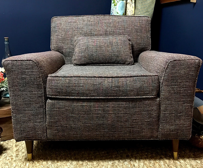 MCM armchair with toss pillow