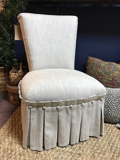 Linen Slipper Chair